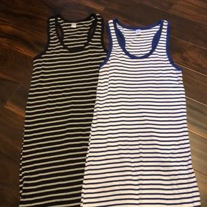 West loop large striped maxi dress set of 2